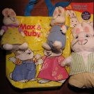 Plush Max and Ruby Bunny Rabbits coloring book and carrying bag