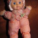 1999 Playskool Nylon plush pink my very soft baby  5034