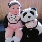 The Brass Key Inc. Doll called Pretty Panda with Plush Panda