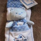 Princess soft Toys Blue White Blue Security Blanket Car and Bear New with tags