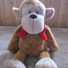 Wishpets Plush Brown Monkey Named Ivan in Red Bow