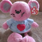 Ty Classic Pink Mouse named Patter with tags