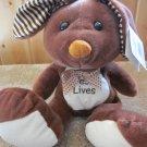 Goffa Brown and Cream Plush Rabbit Striped ears Jesus Lives