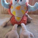 Manhattan Toy Plush Orange Monster named Eenie Meanies Ni