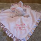 Child of Mine Pink Rabbit Thank Heaven For Little Girls Lovey Security Blanket