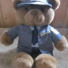 USPS  Plush Brown Bear Dressed as a Mail Letter Carrier 1990 Threadco, inc
