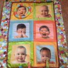 Manhattan Toy co Security Blanket With Baby Photos and Taggies