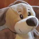 KellyToy Plush Tan Puppy Dog wears a hoodie Love country on tummy