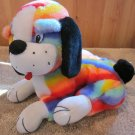 Rainbow colored PlushDog by Top Bloom TBI Plush