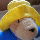 Paddington Plush Teddy Bear with Yellow hat blue coat by Eden