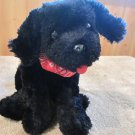 Princess Soft Toys Black  Puppy Dog with Red Scarf 2005
