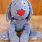 Pottery Barn Blue Plush Puppy Dog with Red Collar #45656