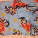 Powerpuff Girls Twin Size Fitted Bottom Sheet and one pillow Case Blue with pink hearts