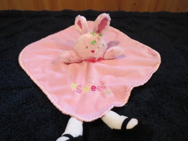Small Wonders Pink Bunny Rabbit Security Blanket Doll with legs