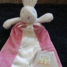 NWT Bunnies By The Bay  Pink Security Blanket White Rabbit  #151005