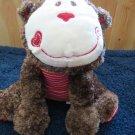 "Mary Meyer Cheery Cheeks 11"" Plush Spunky  Monkey Red heart"