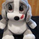 Plush Sad Sam girl friend Honey grey white puppy dog