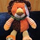 Mary Meyer Motley Zoo Plush Lion orange New With Tags