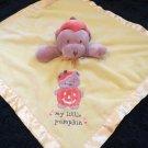 Carters My Little Pumpkin Security Blanket Tan Bear Jack O Lantern