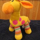 KellyToy Plush YellowGiraffe Striped legs Pink dots Kelly Toy
