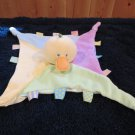 Kids Preferred yellow duck Security Blanket Lovey taggies and knotted ends