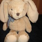 "12"" Plush Tan Bunny Rabbit Gingham bow Children's Place"