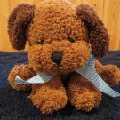 Princess Soft Toys brown Puppy Dog with dark brown ears