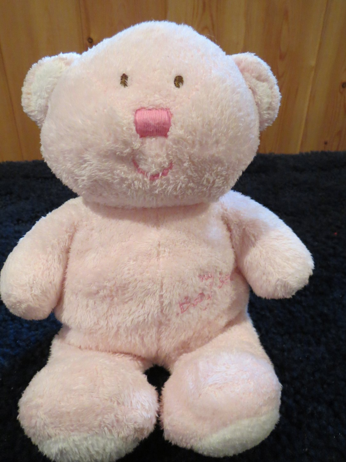 Baby Ty 2005 Love to Baby Blue Teddy Bear with My Baby Bear on its tummy