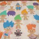 Ace Novelty Treasure Trolls 1992 Twin Sheet Set No pillow case