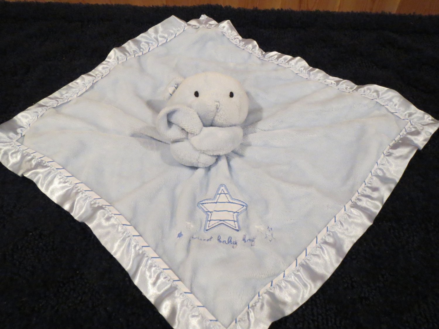 Carters Just One Year Sweet Baby Boy Blue Security Blanket