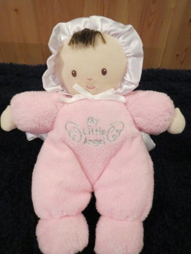 Carter's My Little Angel Plush Doll Pink with Wings Dark hair Brown eyes
