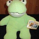 """Cuddle Zone 10"""" round Frog Green Cream Soft Cuddly Target"""