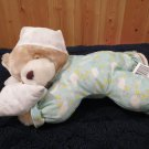 Walmart Plush Sleepy talking Teddy Bear head on Pillow