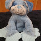 Baby Adventure Blue Plush Puppy Dog with Patches Teether toy