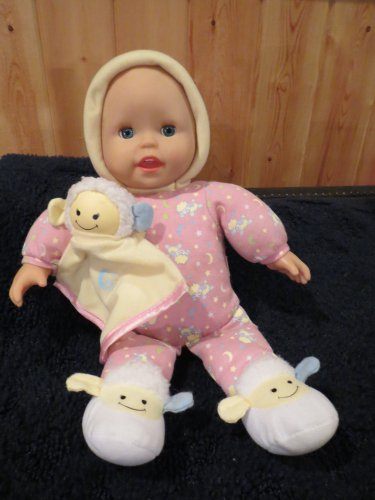 """Fisher Price 13"""" Plush Musical Light-up Lullaby Baby Doll with Lamb"""