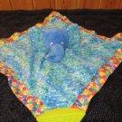 Eric Carle Plush Blue Elephant Activity Toy Teether Security Blanket