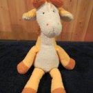 "Manhattan Toy Co Plush 18"" giraffe orange cream"