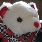 Joelson Industries Plush White Bear with Hearts 1995