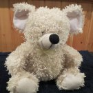 Puli International white  Cream colored Plush Mouse with black nose