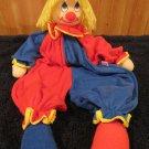 "Russ Berrie Clown Doll Primary colors 22"" Pajama bag"