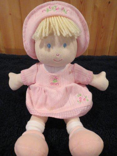 Carters Plush Pink Doll Blonde Blue Eyes #6299