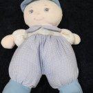 You & Me Plush Boy Doll Blonde Blue Eyes Blue Cap