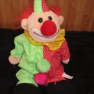 Plush Fleece faced Clown Red Green outfit with white dots