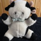 Cuddle Wit Plush Black and white Cow Bull