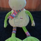 Stephan Baby Plush Green Frog Stripes and Dragon Fly