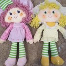 Vintage 1981 Kenner Lemon Meringue Raspberry Tart Strawberry Shortcake Dolls
