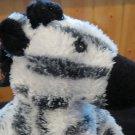 """Aurora plush Zebra 6"""" Black White"""