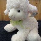 CS International Plush Lamb Green Ribbon Shopco