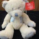 New Russ Berrie Plush white Teddy Bear God danced the day you were born