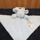 NWT Blankets & Beyond Nunu Blue Puppy dog plush security blanket with pacifier holder